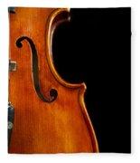 Vertical Violin Art Fleece Blanket