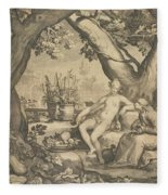 Vertumnus And Pomona Fleece Blanket