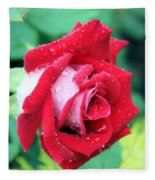 Very Dewy Rose Fleece Blanket
