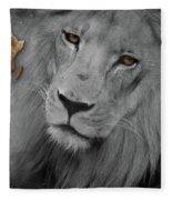 Very Sad Lion, Cry For Africa Fleece Blanket