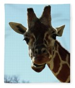 Very Tall Giraffe Fleece Blanket