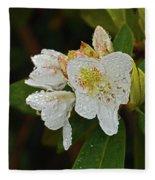 Very Wet Flower Fleece Blanket