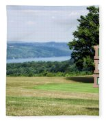 Vesper Hills Golf Club Tully New York 1st Tee Signage Fleece Blanket