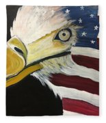 Veteran's Day Eagle Fleece Blanket