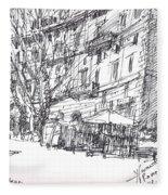 Via Nomentana Rome Fleece Blanket