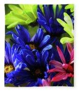 Vibrant Chrysanthemums Fleece Blanket