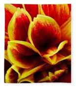 Vibrant Dahlia Petals Fleece Blanket