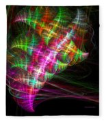 Vibrant Energy Swirls Fleece Blanket