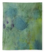 Vibrant Green Abstract Ink Design Fleece Blanket