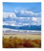 Vibrant Montana Fleece Blanket