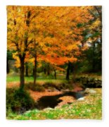Vibrant October Fleece Blanket