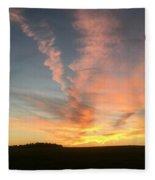 Vibrant Sunset Fleece Blanket