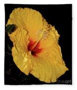 Vibrant Yellow Hibiscus By Kaye Menner Fleece Blanket