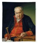 Vicente Portaia Lopez  Felix Maximo Lopez First Organist Of The Royal Chapel 1820 Fleece Blanket