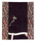 Victor Bicycle Ad, 1895 Fleece Blanket