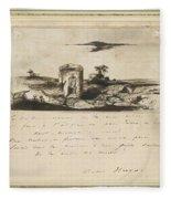 Victor Hugo   Landscape   1837 Fleece Blanket