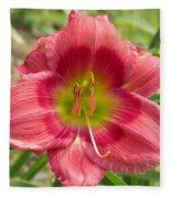 Victoria Grace Daylily Fleece Blanket