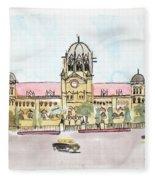 Victoria Terminus Fleece Blanket