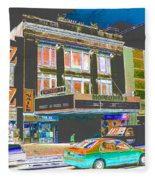 Victoria Theater 125th St Nyc Fleece Blanket