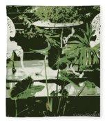 Victorian Garden Poster Fleece Blanket