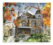 Victorian Mansion Fleece Blanket