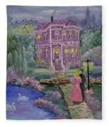 Victorian Romance 1 Fleece Blanket