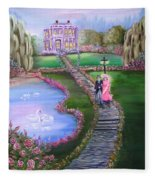 Victorian Romance 2 Fleece Blanket