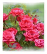 Victorian Rose Garden - Digital Painting Fleece Blanket