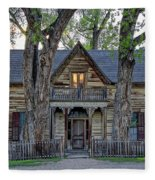 Victorian Sedman House In Montana State Fleece Blanket