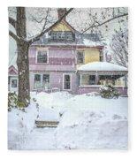 Victorian Snowstorm Fleece Blanket