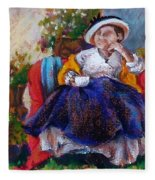 Victorian Tea Time Fleece Blanket