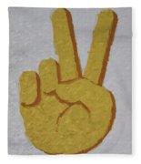 #victory Hand Emoji Fleece Blanket