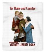 Victory Liberty Loan - World War One  Fleece Blanket