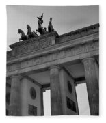 Victory Of Brandenburg Gate Fleece Blanket