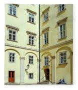 Vienna Courtyard Chat Fleece Blanket