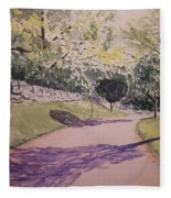 Vienna In Summer Fleece Blanket