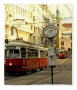 Vienna Streetcar Fleece Blanket