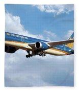 Vietnam Airlines Boeing 787 Dreamliner Fleece Blanket