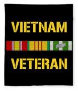 Vietnam Veteran Ribbon Bar  Fleece Blanket