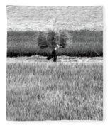 Vietnamese Farmer Black White  Fleece Blanket