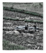 Vietnamese Rice Harvest  Fleece Blanket