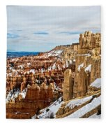 View Along The Ridge Fleece Blanket