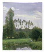 View At Rouelles Fleece Blanket
