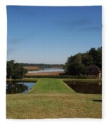 View Down To The Ashley River At Middleton Place Plantation Charleston Fleece Blanket