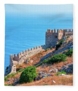 View Far Out To Sea From Alanya Castle Fleece Blanket