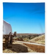 View From A Sheep Herder Wagon Fleece Blanket