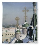 View From A Window Of The Moscow School Of Painting Fleece Blanket