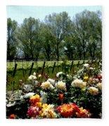 View From Bridlewood Vineyards Fleece Blanket