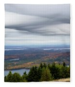 View From Cadillac Mountain Fleece Blanket
