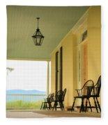 View From Cedar Grove Fleece Blanket by Nancy De Flon